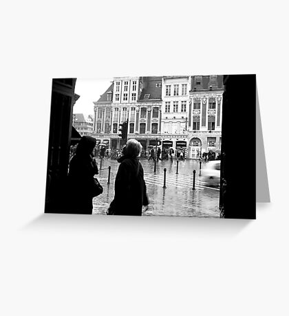 Dry and wet Greeting Card