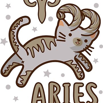 Aries Kitty Cat Zodiac April Shirt Birthday Astrology Gift by Top10Merch