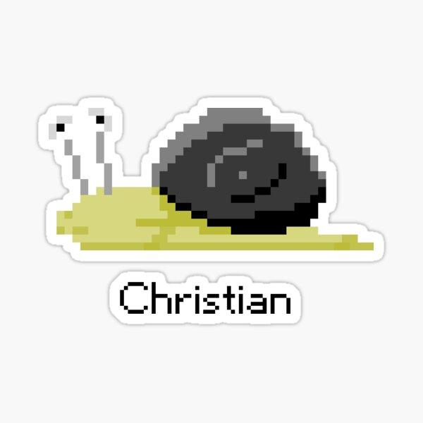 Christian from Snail Trek Sticker