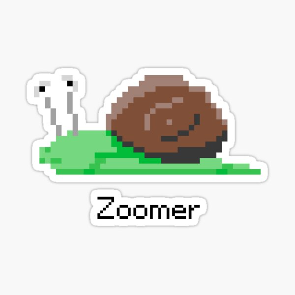 Zoomer from Snail Trek Sticker
