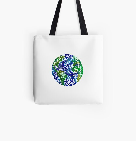 The Earth Laughs in Flowers All Over Print Tote Bag