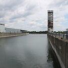Water, river, city, bridge, sky, sea, skyline, architecture, landscape, travel, buildings, building, industry, reflection, harbor, urban by znamenski