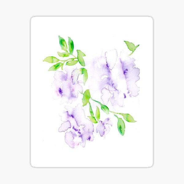 Soft Purple Watercolor Florals Sticker