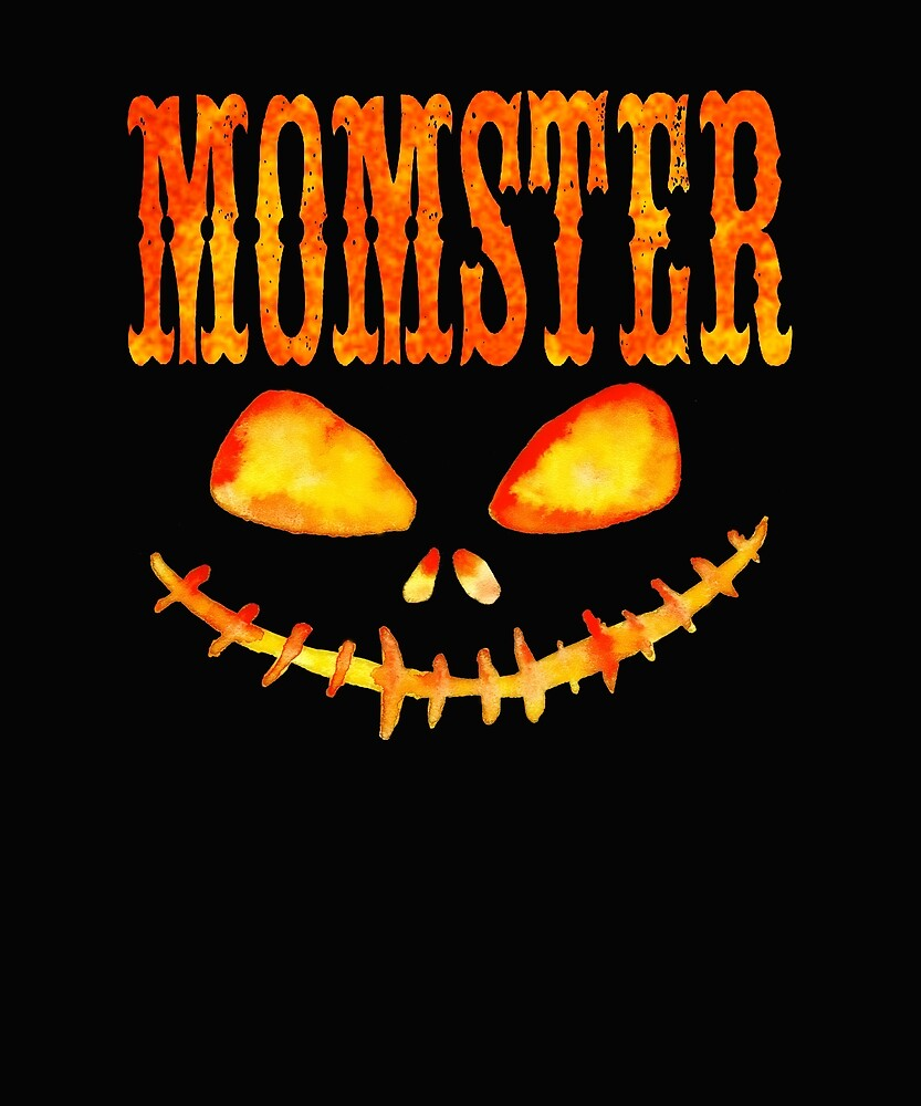 Funny Halloween Design For Moms  Spooky Face Momster by kimmicsts