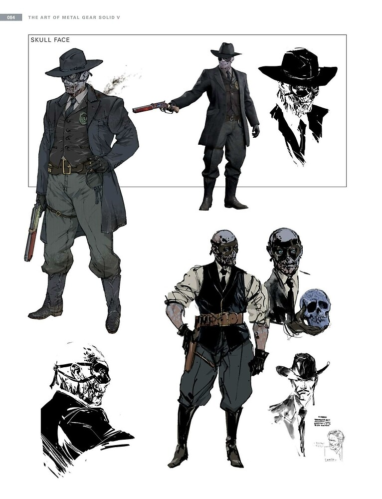 Metal Gear Solid V: Skull Face by ragsmaroon