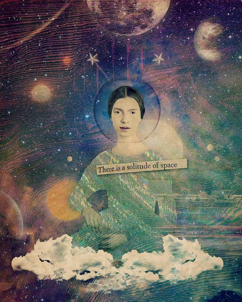 Emily Dickinson in Outer Space by jolenecasko