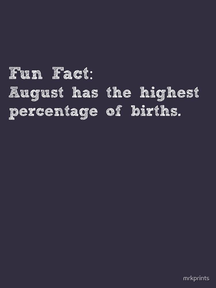 Fan Fact August Apparel by mrkprints