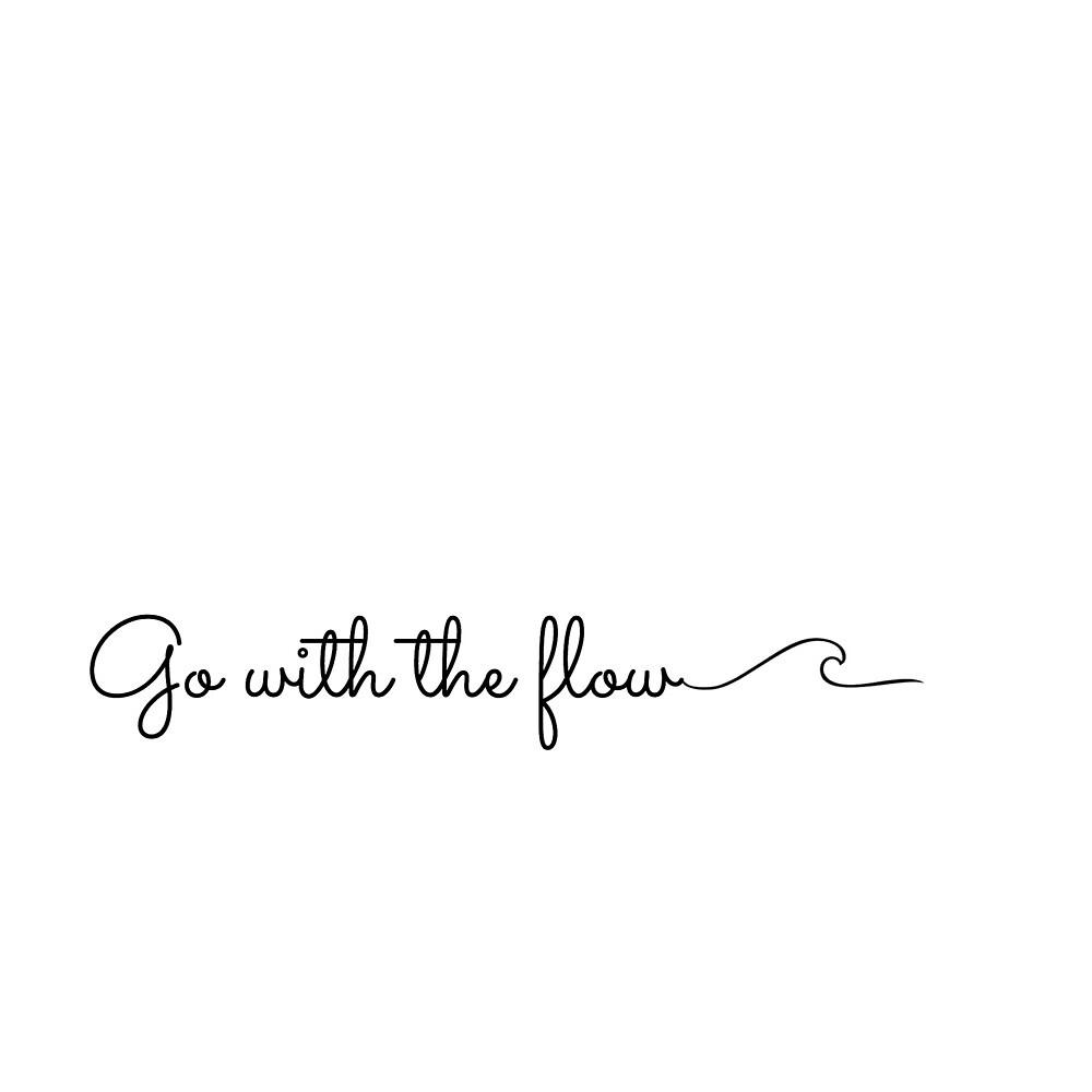 Go with the flow wave- sticker by Maddie,Ellie,&Bailey Sticker co.