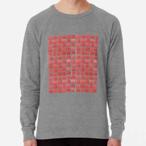 Red Parquet Lightweight Sweatshirt
