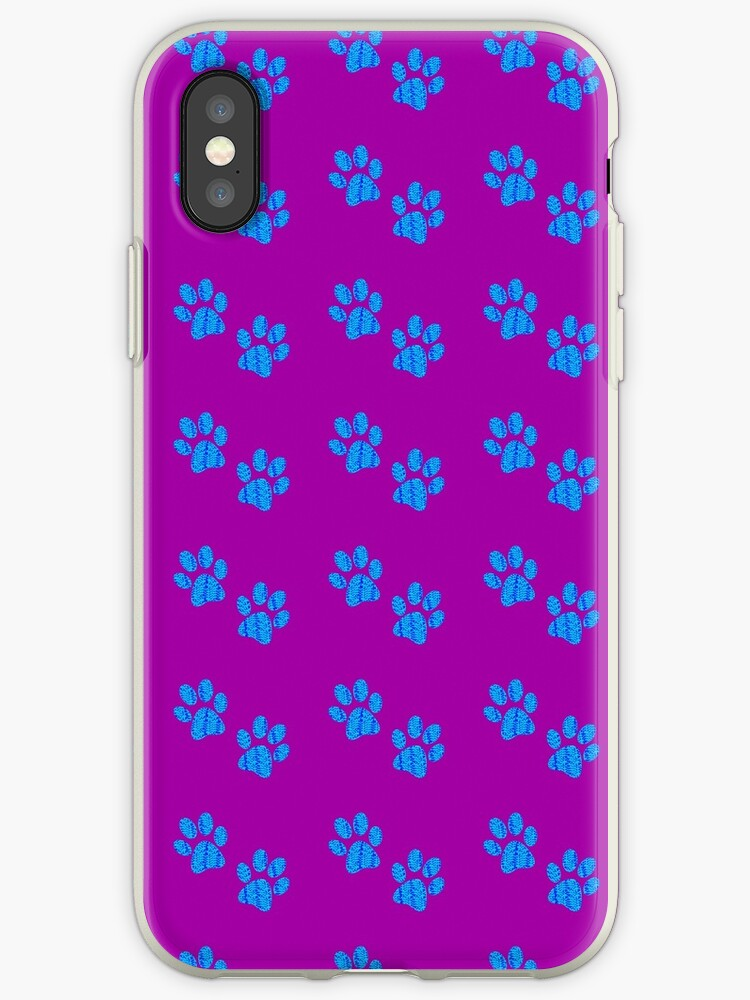 Blue Spotted Paw Prints by cindersarah215