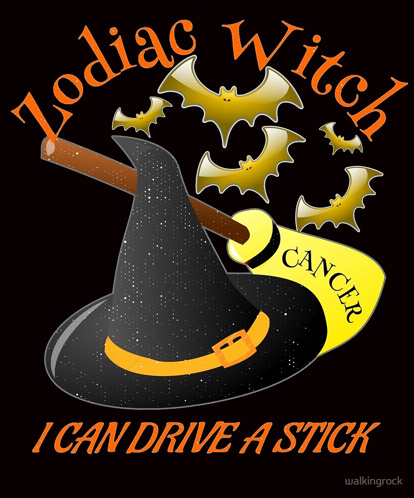 Cancer Zodiac Witch Can Drive A Broom Stick Gifts by walkingrock