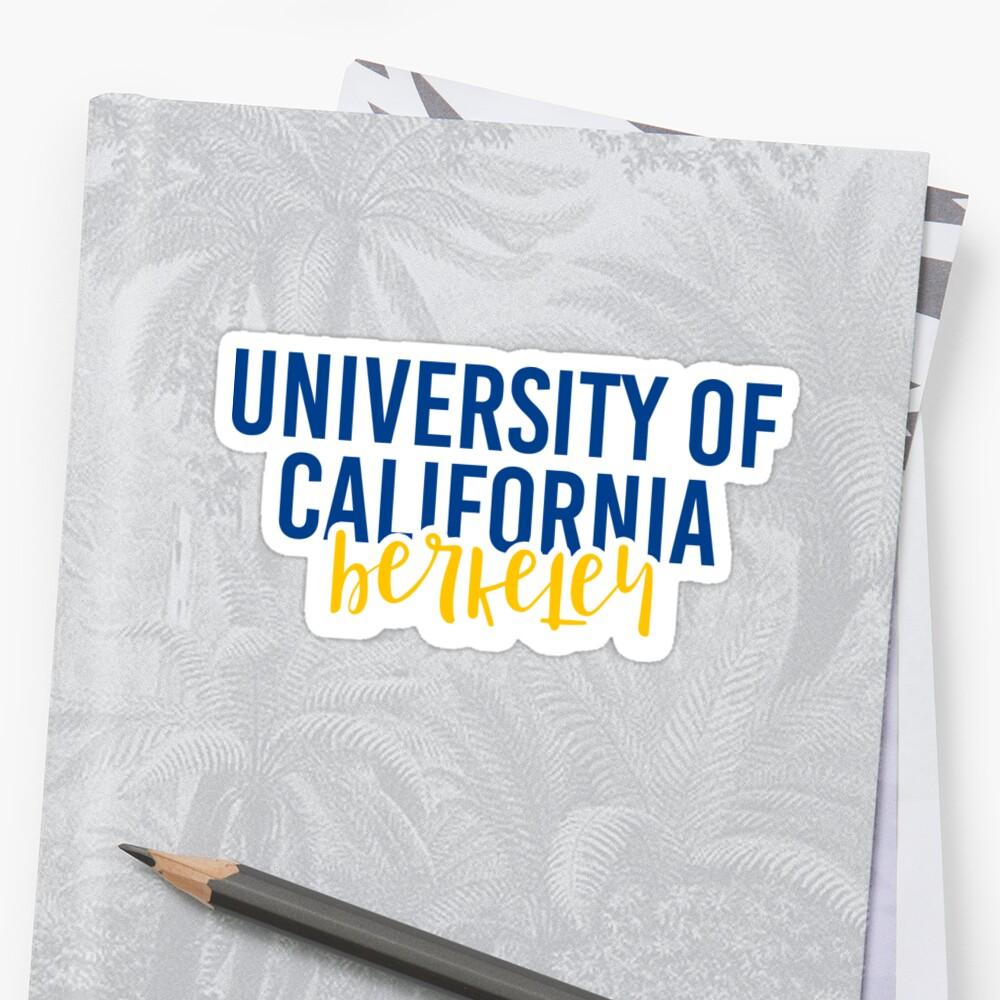 University of California Berkeley - Style 11 Sticker Front