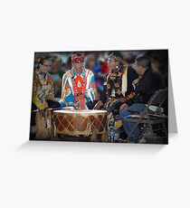 Drummers  (Pow Wow Series) Greeting Card