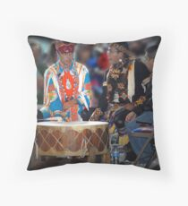 Drummers  (Pow Wow Series) Throw Pillow