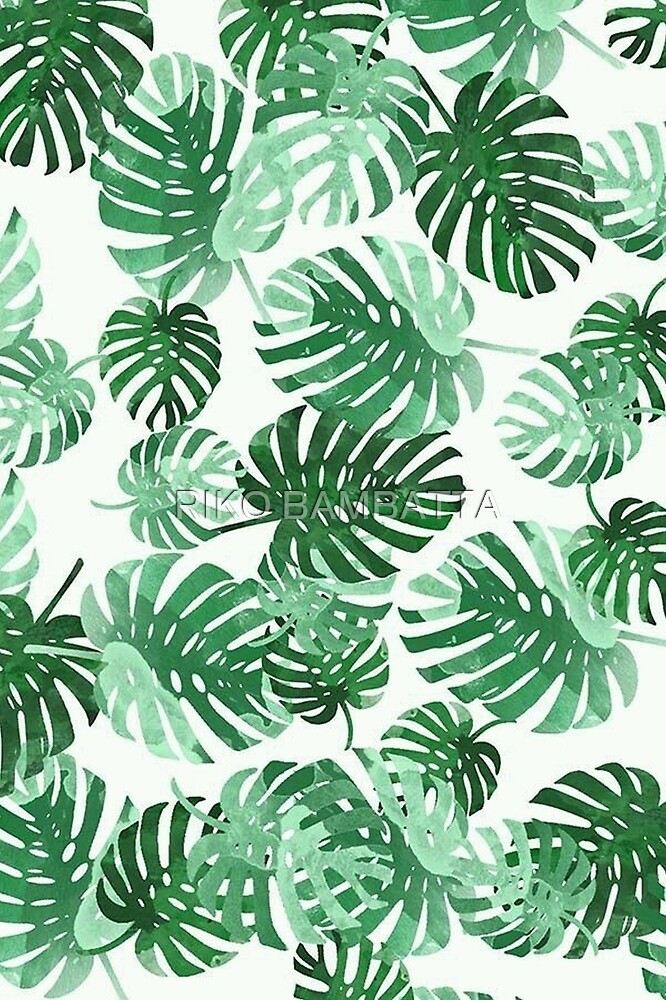 Tropical beautiful green leaves by TheBulzero
