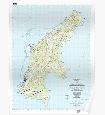 USGS TOPO Map Northern Mariana Islands MP Island Of Saipan 462381 1983 25000 Poster