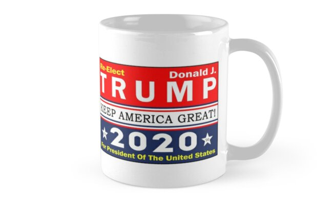 Trump 2020 T-Shirt Re-Elect Donald J Tshirt President Of The United States Shirt Keep America Great Tee Pillow Case Sticker Coffee Mug Men Women Gifts Ideas by Magic  Makers