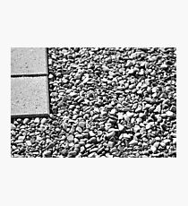 Pebbles and Pavers Photographic Print