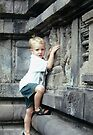 Borobudur... If you can climb on it, climb!  by steppeland