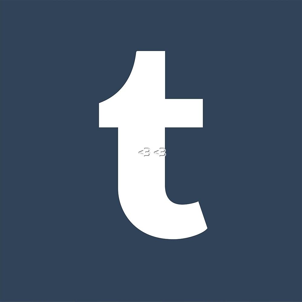 Tumblr logo by <3 <3