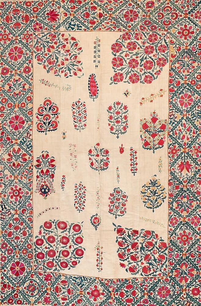 Bokhara Suzani Uzbekistan Rug by Vicky Brago-Mitchell