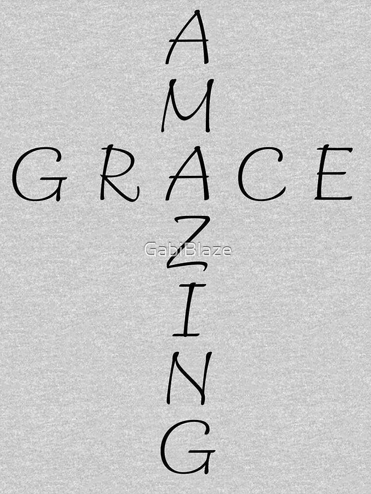 Amazing Grace Cross Christian Criss Word Art Design Graphic by GabiBlaze