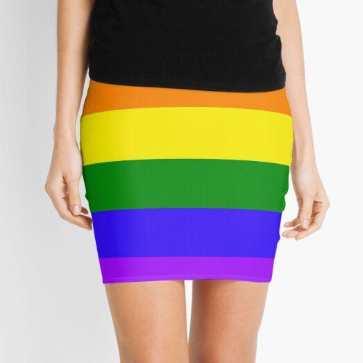 Gay Pride Rainbow Mini Skirt