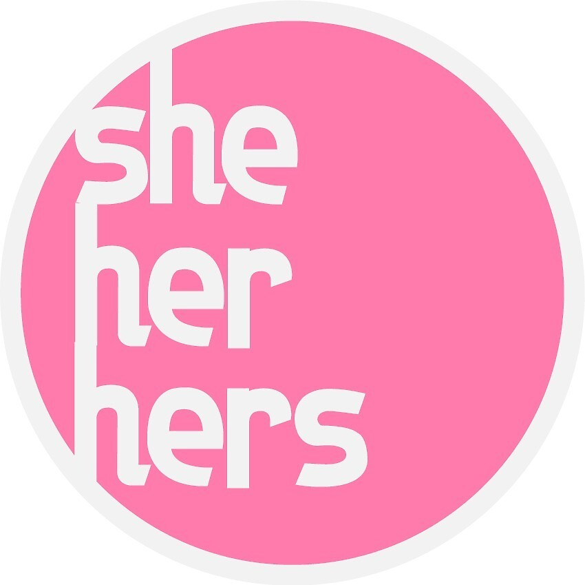 she/her/hers feminine pronouns in pink by nana7pina