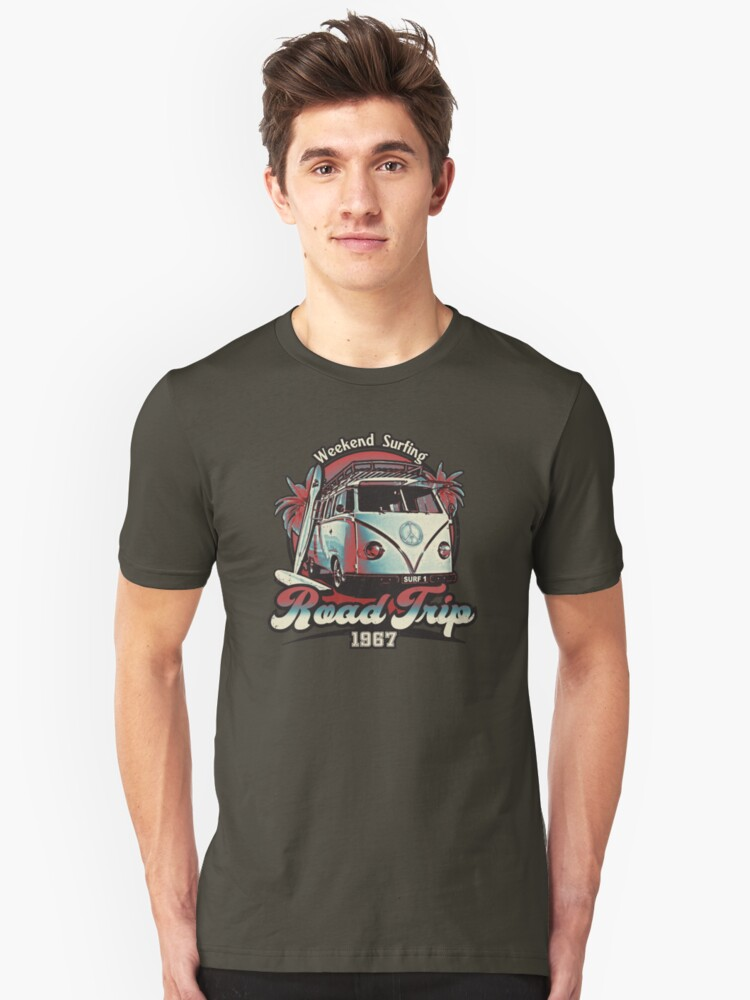 Road Trip 1967 - Weekend Surfing Unisex T-Shirt Front