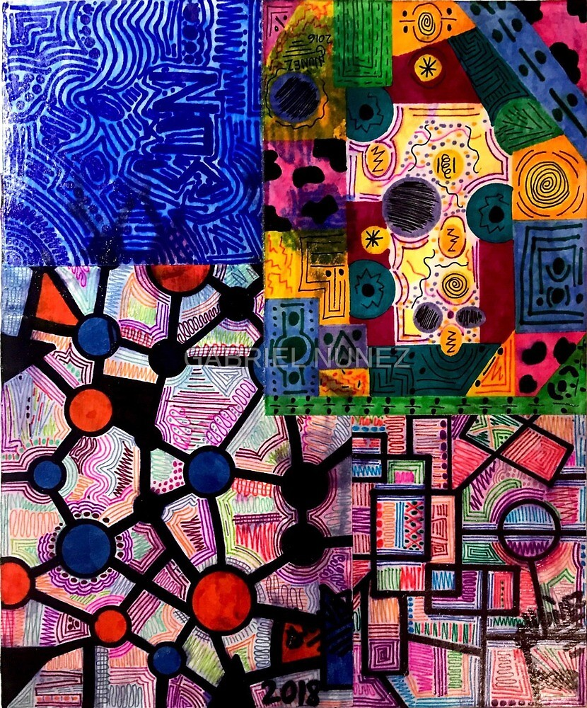 Abstract drawings collage  by zenlighten305