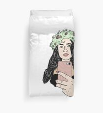 Funda nórdica Lauren Jauregui Flower Crown Line Art