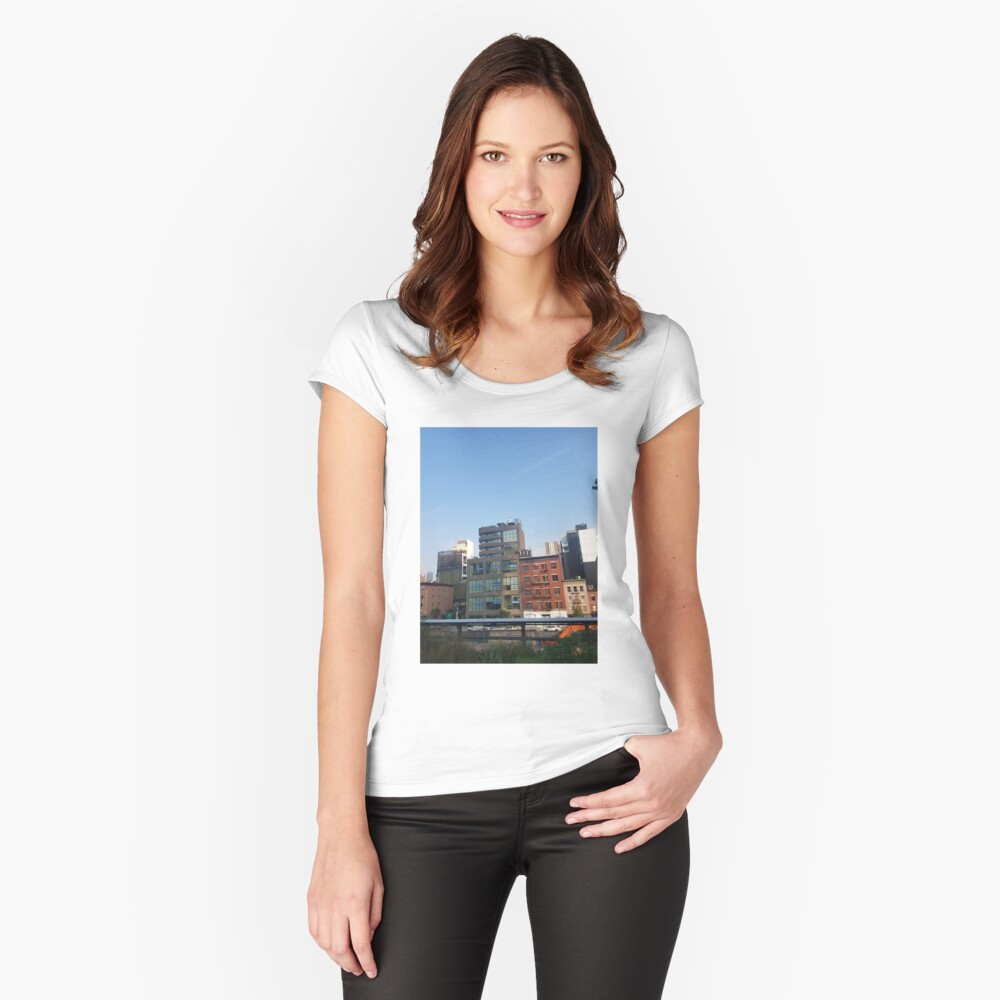 city_9 Fitted Scoop T-Shirt