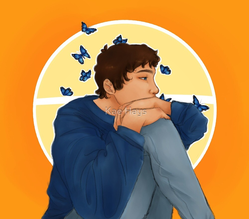 lance and butterflies by Kae Hays