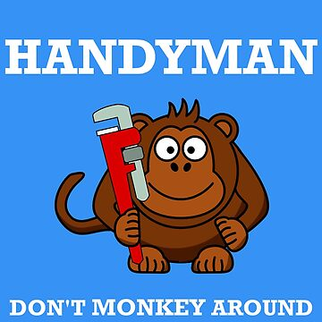 Handyman Dad Papa Handy Man Gorilla Ape Gift ideas by jetset201