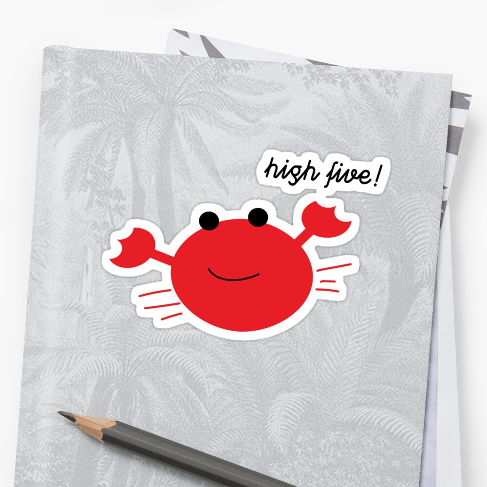 High Five- Cute crab (Inspired by Kim Namjoon RM) by bookishandgeeky