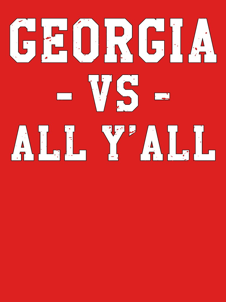 Georgia VS All Y'all Gameday Football by TurboRights