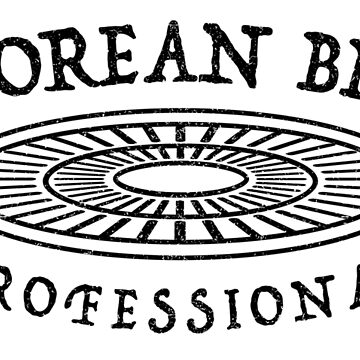 Korean BBQ Professional (Black Graphic) by noothername