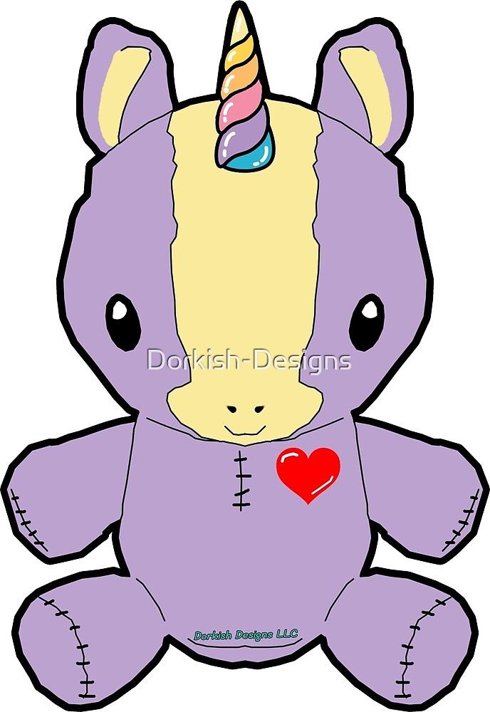 Purple Unicorn Plush by Dorkish-Designs