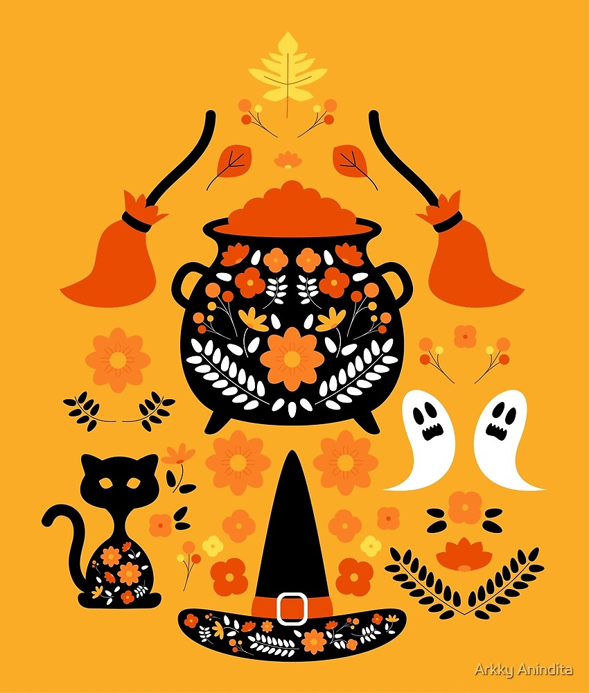 Witches Halloween Essentials Pattern by Paperon Design