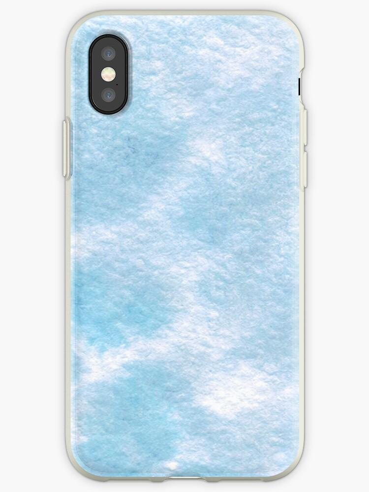 Blue aquamarine Watercolor splash by ArtOlB