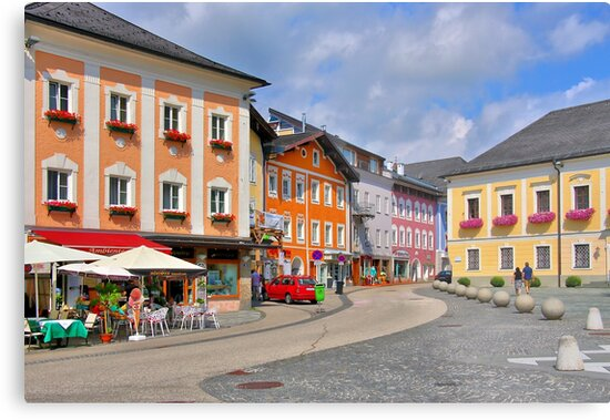 The Town of Mondsee, Austria by Geoffrey Higges