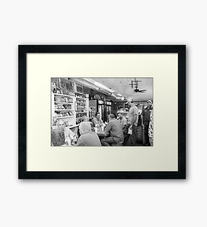 Eating Lunch at Depot Bottom Country Store Framed Print