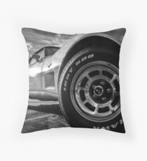 Indy 500 Black and White Throw Pillow