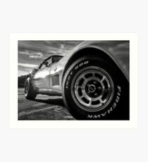 Indy 500 Black and White Art Print