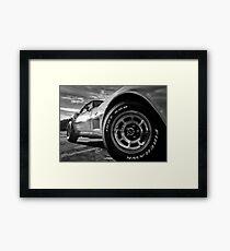 Indy 500 Black and White Framed Print