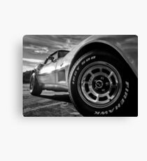 Indy 500 Black and White Canvas Print