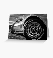 Indy 500 Black and White Greeting Card