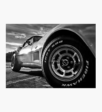 Indy 500 Black and White Photographic Print