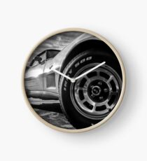 Indy 500 Black and White Clock