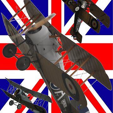 I'm With Sopwith Design +Union Jack by muz2142